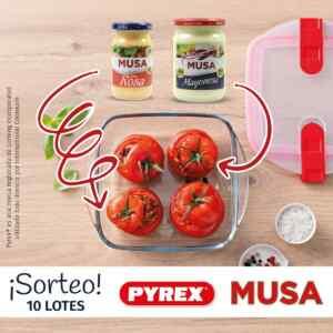 Gana 1 de 10 lotes de productos Auténtica Musa + 2 recipientes Cook&Heat de Pyrex