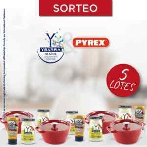 Gana 1 de 5 lotes de recipientes Pyrex + productos Ybarra