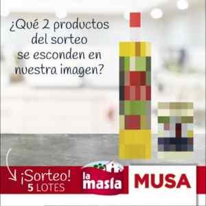 Gana 1 de 5 lotes de productos La Masía y Musa