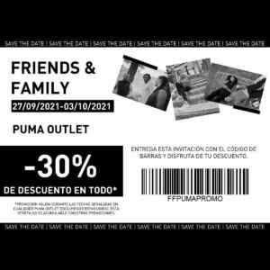 Código Puma Friends & Family de 30% de descuento en toda la tienda