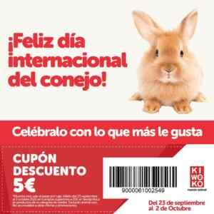 Kiwoko código de descuento: 5€ en compras de 35€ por el Día del Conejo 2021