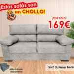 Chollos El Castor: sofás desde 99€